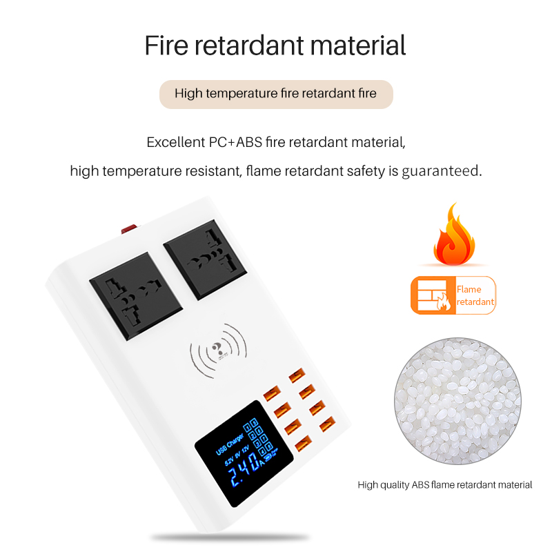 Fashion New AC Socket 40W Quick Charger for ipad iphone Huawei Xiaomi Samsung LG Power Adapter Smart Universal Wireless Charger in Chargers from Consumer Electronics