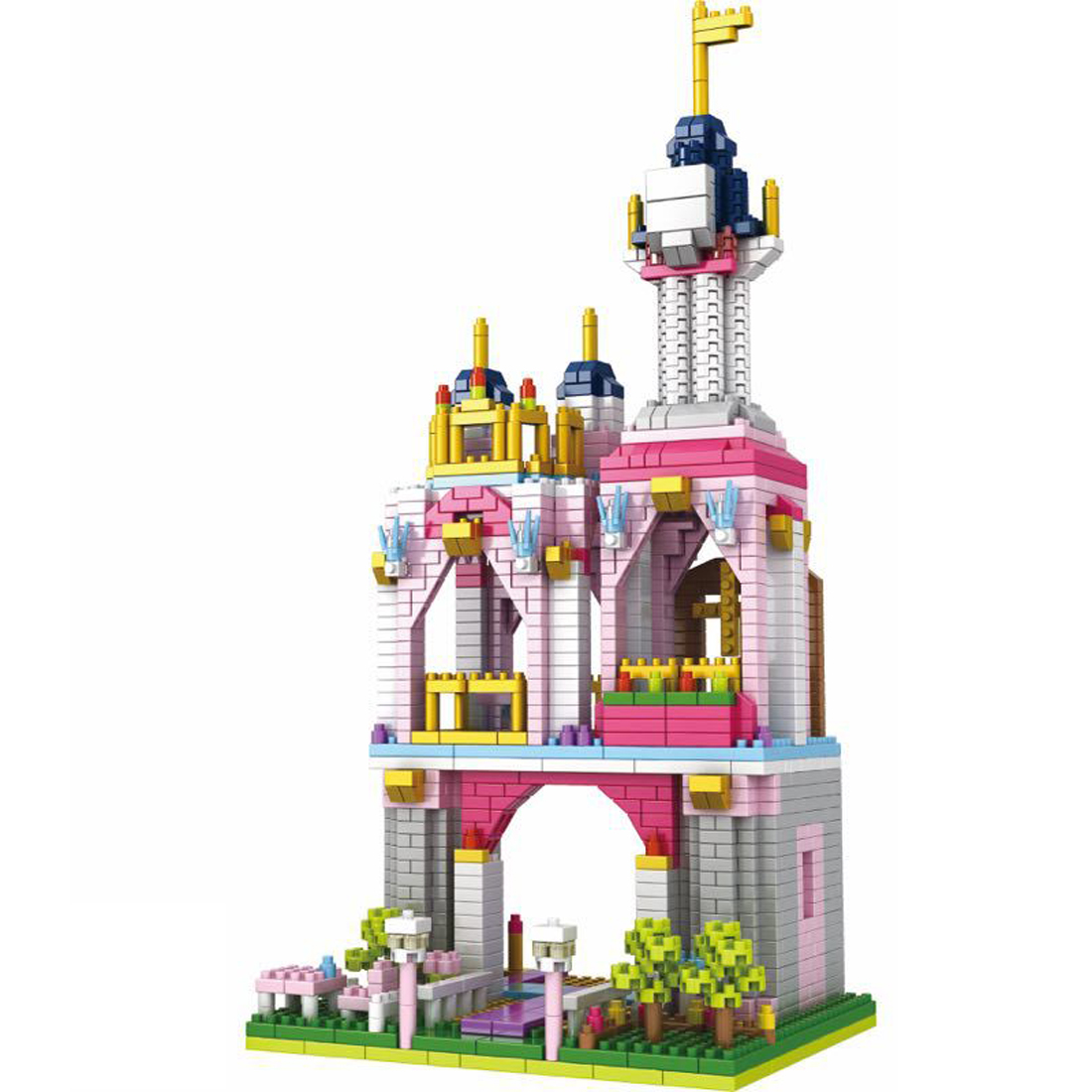 hot <font><b>LegoINGlys</b></font> city architecture Classic creators fairy tales Royal <font><b>Castle</b></font> Prince Princess mini micro diamond blocks bricks toys image