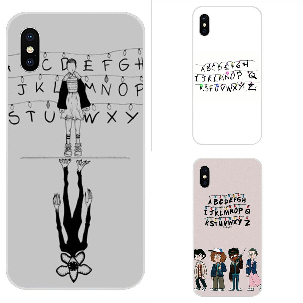 Stranger Things Alphabet Lights Hot Fashion Design Cell Phone Case For Apple Iphone 4 4s 5 5c 5s Se 6 6s 7 8 Plus X Xs Max Xr Half Wrapped Cases Aliexpress