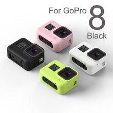 移動プロ8アクセサリーカラフルなソフトシリコンケース皮膚保護シェルハウジングため8黒アクションカメラ