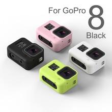 Voor Gopro 8 Accessoire Kleurrijke Zachte Siliconen Case Huid Beschermende Shell Behuizing Voor Go Pro Hero 8 Zwart Actie Camera