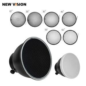 Image 1 - 7 inç 18cm standart reflektör difüzör için petek izgara ile evrensel montaj stüdyo ışığı Strobe flaş K 150A K 180A E250 E300