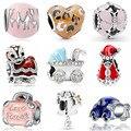 Maxi DIY шар, чайник, обезьяна, детская коляска, сердца, эмалированные бусины, подходят для Pandora Charms, браслеты и браслеты для женщин, аксессуары DIY
