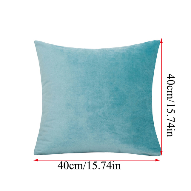Solid Color Velvet Cushion Cover 4