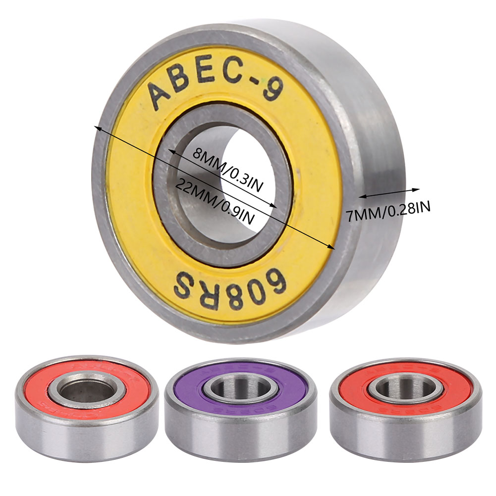 608RS Bearing 8*22*7 Mm ( 8 PCS ) ABEC-5 Skateboard Scooter 608 2RS Ball Bearing Miniature Skate Roller 608-2RS 608 RS Bearings