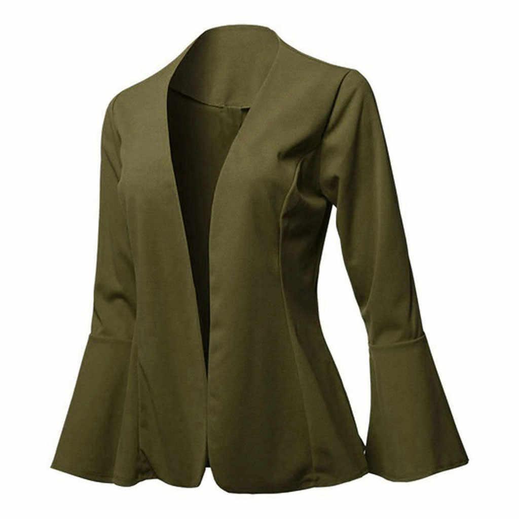 Chaqueta de mujer Blazers Slim Lady Office Wear Outwear manga larga Turn Down Collar Formal traje largo negro rojo otoño primavera abrigo