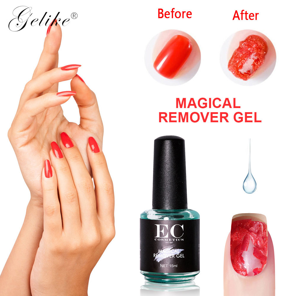 Gelike 15ml Burst Magic Gel Nail Polish Remover Cleaner Nail UV Gel Liquid Remove Sticky Layer Manicure Tool Magic Remover