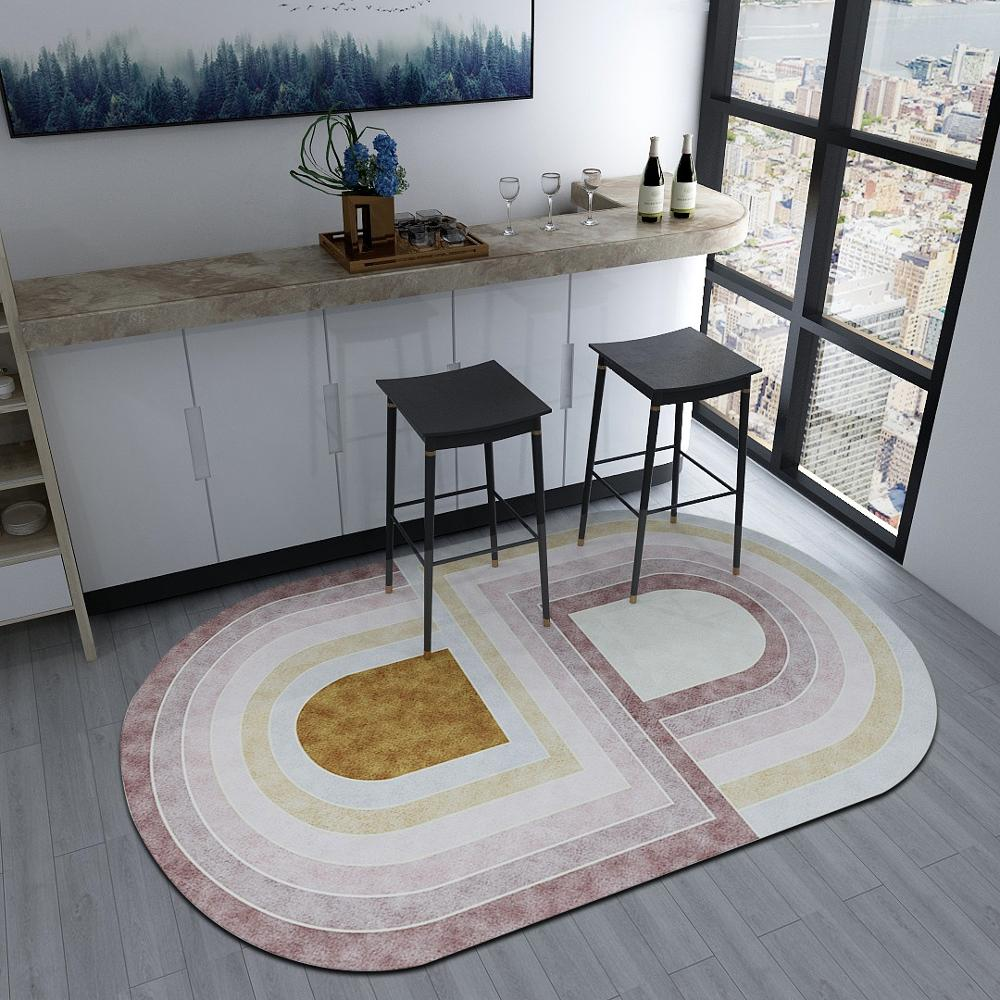 Nordic Irregular Geometric Carpet Living Room Home Bedroom Carpets Creative Oval Bedside Rug Sofa Coffee Table Mat Study Carpet