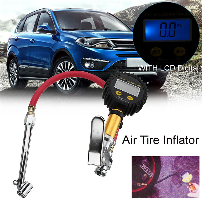 "12/"" Car Gauge Compressor Hose Air Tire Pressure Filler Inflator Tyre Vehicle"