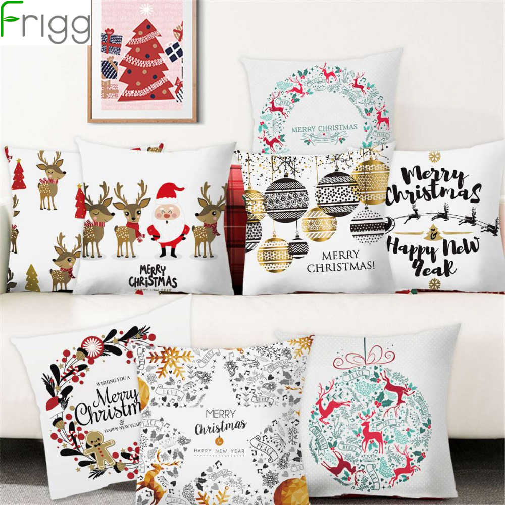Frigg Christmas Cushion Cover Home Decor Sofa Decorative Cushions Pillowcase Christmas Pillow Cover Throw Pillow Covers Cristmas