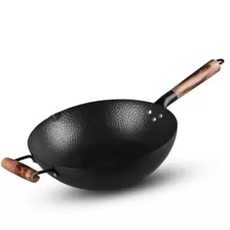 Old-Fashioned Hand-Forged Iron Non-Stick Wok Pan