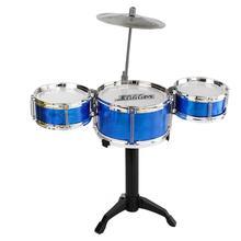 Kinderen детский набор джазовых барабанов, музыкальный инструмент Educatief, 3 барабана и один дизайн symbal