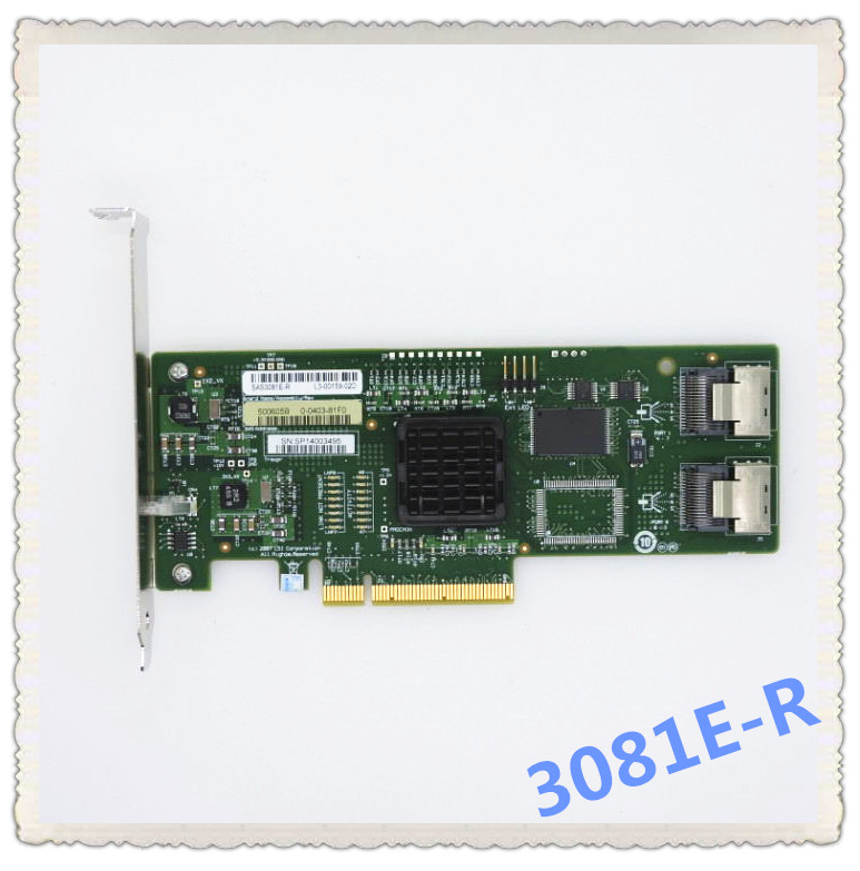 For  LSI SAS 3081E-R LSISAS1068E B3 8 Port HBA JBOD SFF8087 MiniSAS 3Gb PCI-E X8 Controller Card