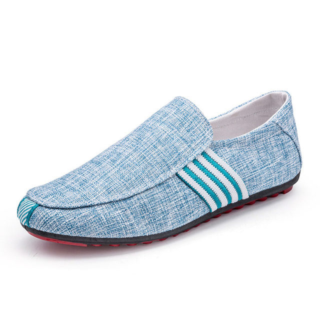 Mazefeng 2019 New Spring Men Canvas Loafers Driving Shoes Moccasins Summer Fashion Men's Casual Shoes Flat Breathable Lazy Flats 6