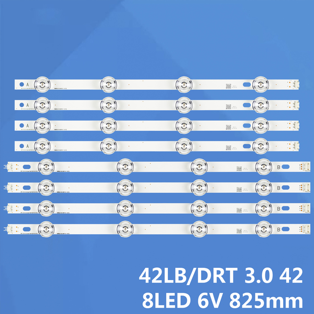 NEW 8 PCS/set LED backlight strip bar for LG LC420DUE 42LB3910 INNOTEK DRT 3.0 42 inch A B 6916L 1709A 6916L 1710A 1956A 42LB