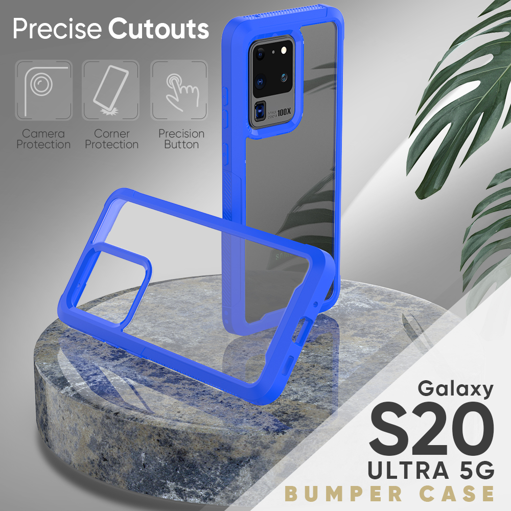 PC + TPU Military Shock Absorption Case For Samsung S20 Ultra S20 S10 Plus S10 E S10 5G Transparent Ultra-Thin Protective Cover (13)