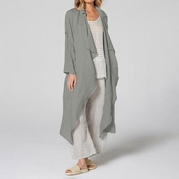 Vintage Women Kimono 5XL Celmia  Casual Long Sleeve Blouses Female Loose Beach Long Cardigan Solid Autumn Shirts Plus Size Tops 11