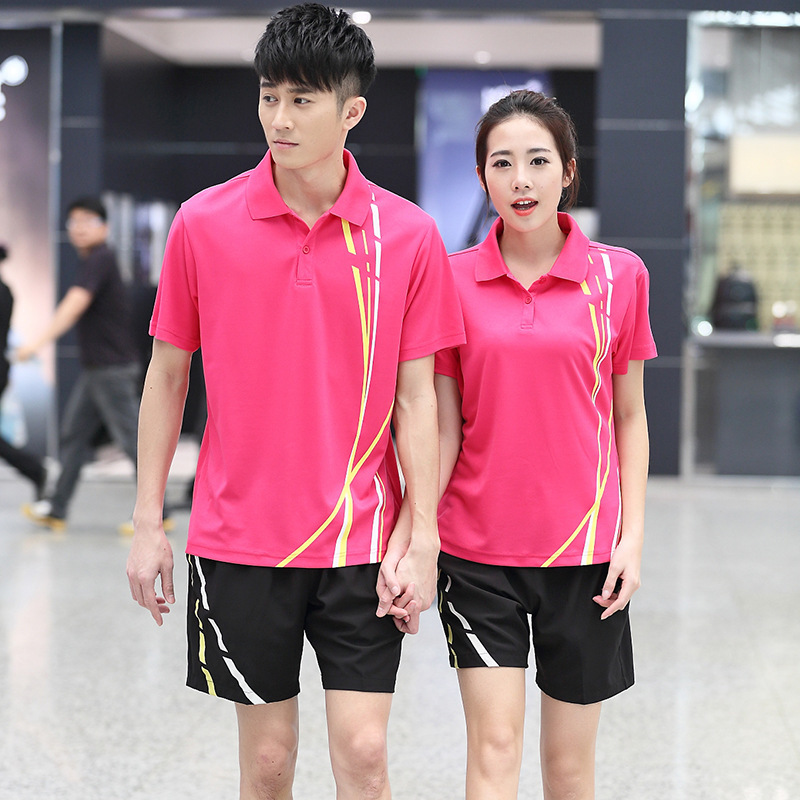 Short Sleeve T-shirt Leisure Sports Suit Couples Two-Piece Set Men And Women Shorts Martial Arts Travel Groups School Uniform Cu