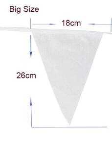 20 флагов, 8 м, Белая Гирлянда, флаги для свадьбы, украшения, шелковая ткань, баннеры для свадебной вечеринки, декоративные флажки для свадебно...