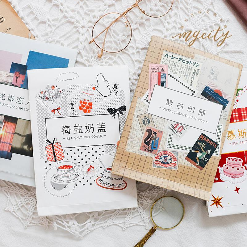 10 stücke Vintage Style Papier Aufkleber DIY Scrapbooking Album Tagebuch Handwer