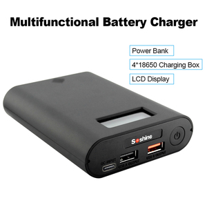 Image 2 - Soshine E3S QC Battery Charger Power Bank Charging Box LCD Display Multifunction 30W Quick Charge 4 Slot 18650 Batteries Charger