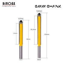 """8 millimetri Shank 2 """"Flush Trim Router Bit con Cuscinetto per il Legno Modello Modello di Bit Carburo di Tungsteno Fresa per il Legno"""