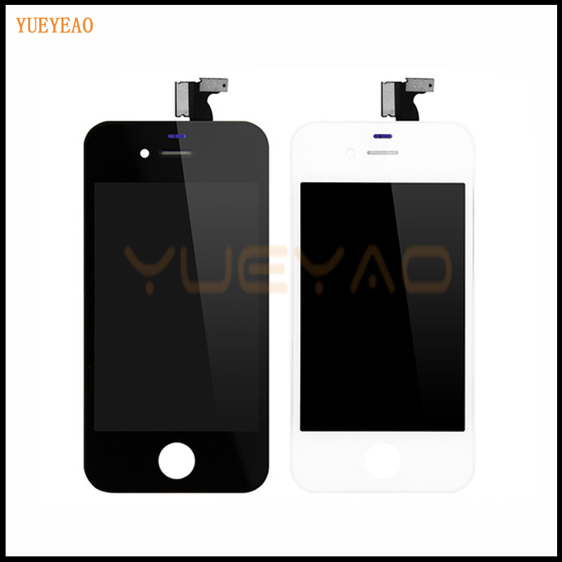 YUEYAO For IPhone 4 4G 4S A1332 LCD Display Digitizer Touch Screen Assembly A1332 Ecran Screen Replacement