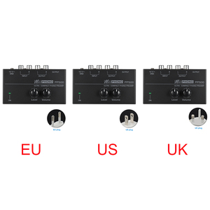 Image 5 - Pp500 ultra compacto volume controles de metal estéreo pré amplificador casa eletrônico portátil com nível áudio phono preamp turntable