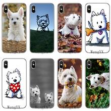 Przezroczysty futerał na telefon west highland white terrier pies dla Xiaomi Redmi Note 7 6 6A 5A 4 4A 3 pro s2 5 plus 4x Pocophone F1 tanie tanio YUNJIANWUXIAN Pół-owinięte Przypadku Slim Transparent silicone TPU Soft phone cover case Odporna na brud Anti-knock Redmi 4A