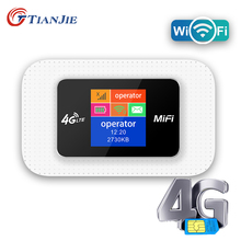 TIANJIE 4G SIM Card WIFI Router Mobile WiFi LTE 100Mbps Travel Partner Wireless Pocket WiFi Hotspot Broadband 4G/3G Mifi Modem