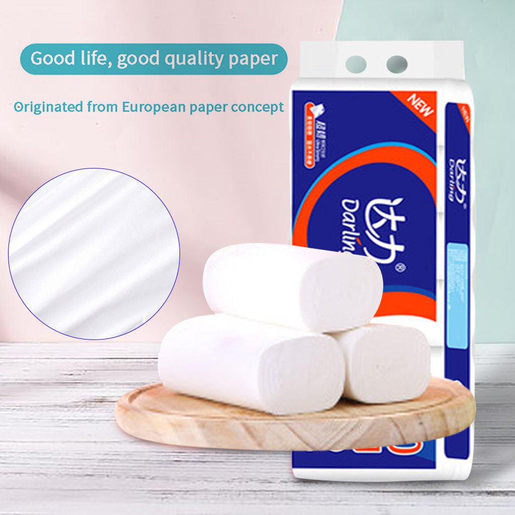 12 Rolls Paper Hand Towels Toilet Paper Toilet Roll Tissue Napkin Disposable Face Towel Roll Paper Tissue Toilet Paper