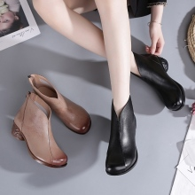 Women Shoes Ankle-Boot Winter Comfortable Warm Plus-Size Genuine-Leather Spring Classic