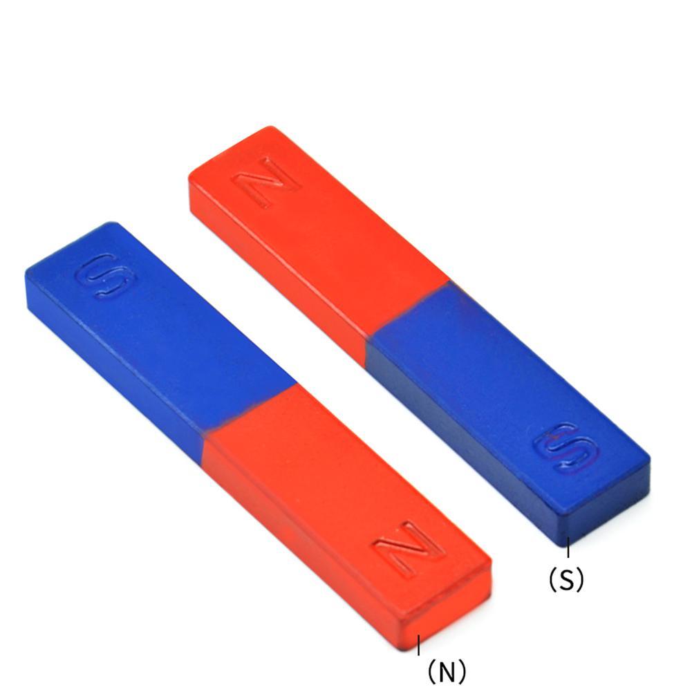 2 Teile/satz Wissenschaft Physik Experimente Magnet Pole Lehre Werkzeug Rot Blau Gemalt N/S Bar Magnet für magnetfeld experimente