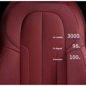 Image 3 - kokololee Custom Leather car seat cover For AUDI A4 A3 A6 Q3 Q5 Q7 A1 A5 A7 A8 TT R8 Automobiles Seat Covers car seats protector