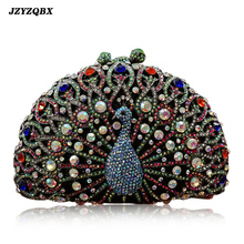 Peacock Handbag Evening Clutch Bag Diamond Shoulder Crystal Luxury Handbags Women Bags Designer