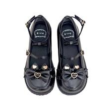 Flat-Shoes Lolita Low-Heel Japanese Girl Vintage Sweet Women Cute Kawaii Round Bowknot