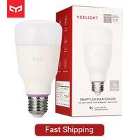 Yeelight YLDP06YL E26 E27 10W RGBW Smart ControlLED Bulb Work With Amazon Alexa AC100 240V for Desk Night Light Lamp