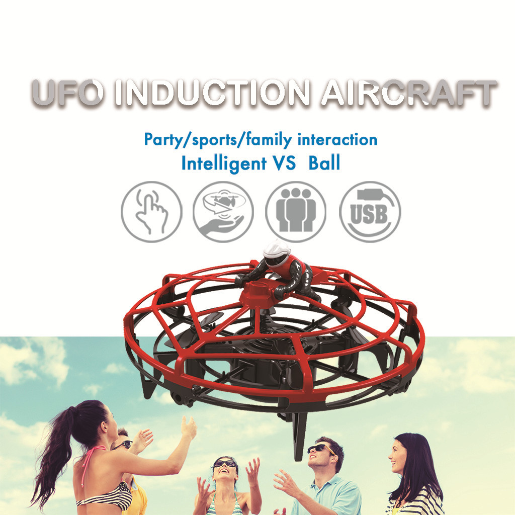 Mini Drone Altitude Hold Quadcopter Induction Levitation Anticollision UFO Drone