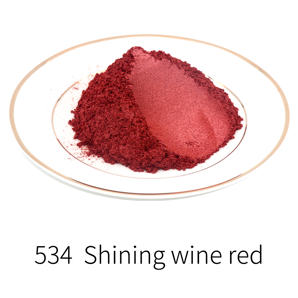 Wine Red Pearl Powder Pigment Mineral Mica Powder Dye Colorant For Soap Automotive Art Crafts 50g Type 534 Acrylic Paint Powder