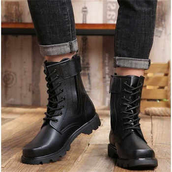 Fashion Safety Boots Steel Toe mid-plate Anti-slip Anti-smashing Wilderness Survival Work Men Boots #WG199
