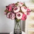 50 см розовый Искусственный Пион из шелка цветы большой букет композиция поддельный цветок белый DIY дома отеля вечерние свадебные украшения ...