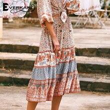 Женская длинная юбка в стиле бохо everkaki летняя этническом