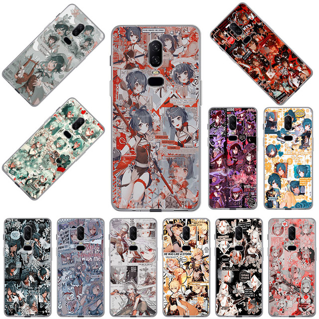 Genshin Impact Transparent Soft TPU Phone Case for OnePlus 9 8T 5T 7T 7 Pro 6 6T 5 3 8 Nord N10 N100 Cover Coque Funda Capa