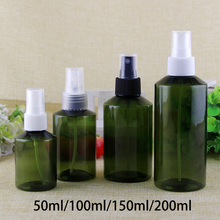 200ml 150ml 100ml 50ml Plastic Spray Bottle Green Refillable Face Skin Toners Packaging Cosmetic Water Container Free Shipping