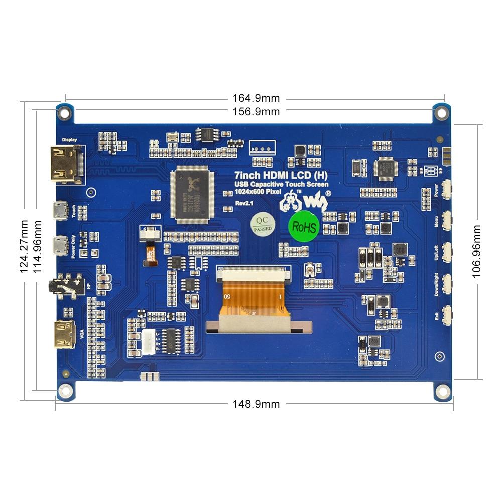 שונות פטל Pi 4B 7 אינץ מסך מגע פטל 1024x600 תומך מסך IPS Capacitive Touch LCD מערכות שונות Multi מיני-מחשבים (4)