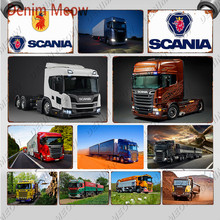Scania Metal Sign Plaque Vintage Heavy Truck Tin Sign Retro Wall Art Poster for Garage Bar Pub Man Cave Sticker Home Decor WY116