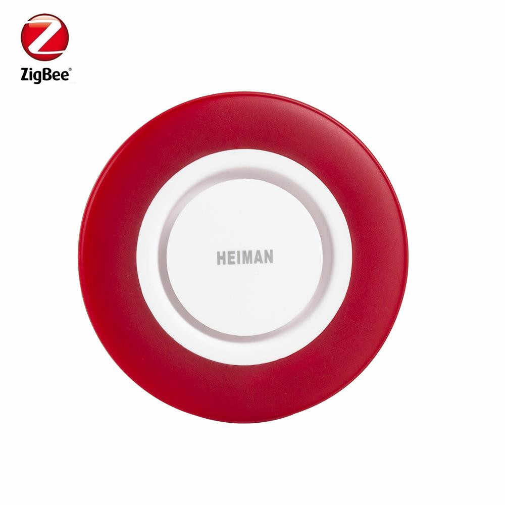 Heiman Zigbee Sirene alarm Strobe Flash Horn mit 95DB big sounds kompatibel mit Zuhause Assistent Deconz gateway