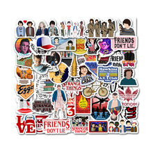 50 Pcs Stranger Things Stickers Anime Pegatina For Children On The Laptop Phone Fridge Skateboard Suitcase Funny Cool Sticker