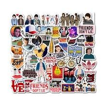 Pegatinas de Stranger Things para niños, 50 Uds., Anime, Pegatina, para ordenador portátil, teléfono, tabla de skate, Maleta, Pegatina divertida