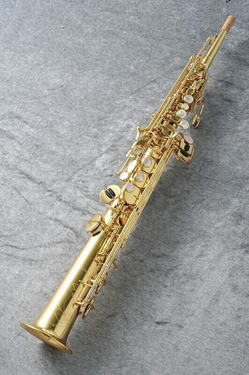 Saxofone soprano novo s901 b plana soprano